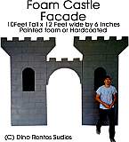Giant Foam Castle Facade Prop