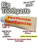 Big Toothpaste Foam Display Prop