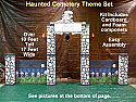 Haunted Cemetery Theme Kit Entrance with Fence - Cardboard Prop