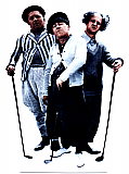 Three Stooges Golf - The Three Stooges Cardboard Cutout Standup Prop