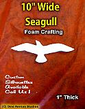8 Inch Seagull  Foam Shape Silhouette