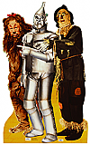 Lion, Tin Man, and Scarecrow - The Wizard of Oz Cardboard Cutout Standup Prop
