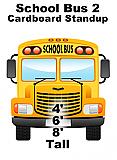 School Bus 2 Front Cardboard Cutout Standup Prop