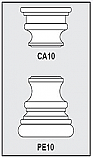 CA10-PE10 - Architectural Foam Shape - Capital & Pedestal